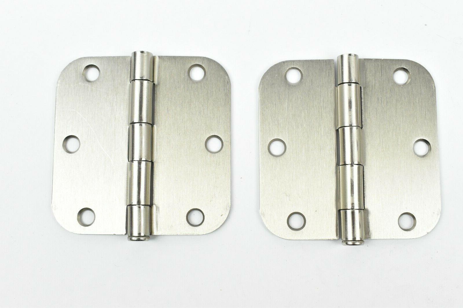 2 Satin Nickel X radius brushed nickel Interior Door Hinges