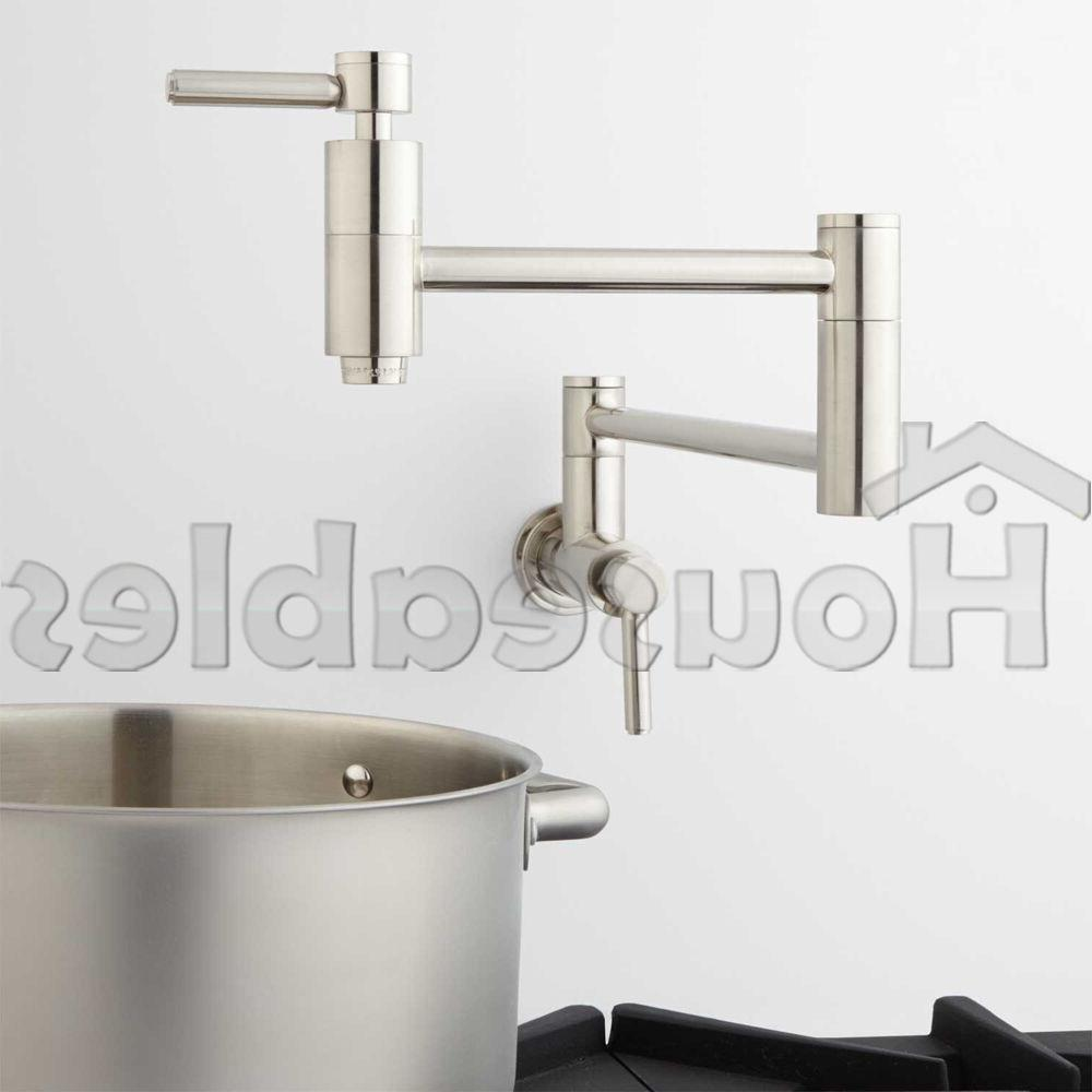 21 Pot Filler, Wall Mount, Modern, Retractable, Double Joint
