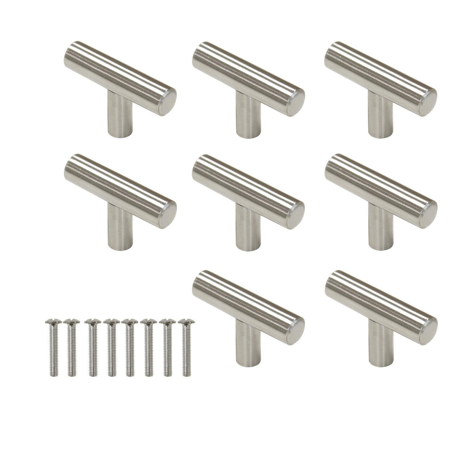 30Pack Pulls Steel Drawer T Bar Handles