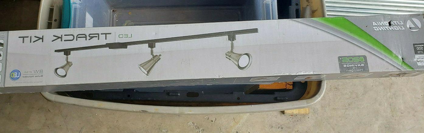 Lithonia 3-Light Brushed Nickel Track Kit