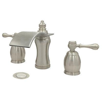 bathroom faucet brushed nickel widespread vessel three