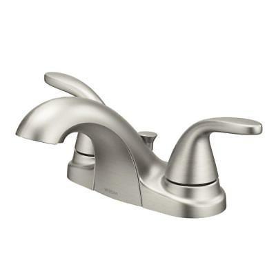 MOEN Adler 84603SRN Bathroom Faucet 4 in. Centerset 2-Handle