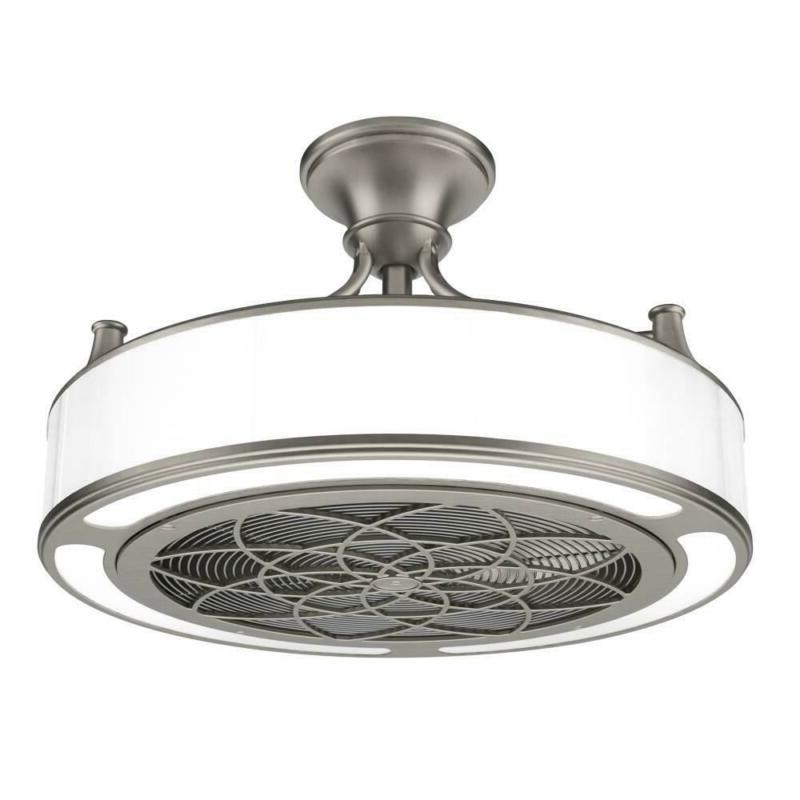 Stile Anderson 22 in. LED Indoor/Outdoor Brushed Nickel Ceil