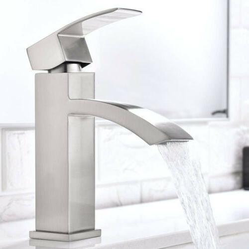 Bathroom Faucet Spout Tap Handle Hole Brushed