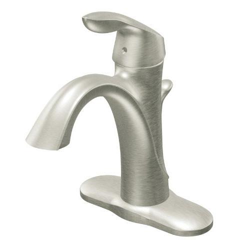 Moen Bathroom Faucet, Series SingleHandle High Arc Brushed Nickel