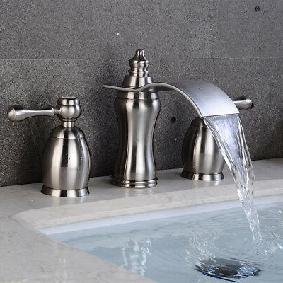 Bathroom Brushed Widespread Vessel Handles Tap