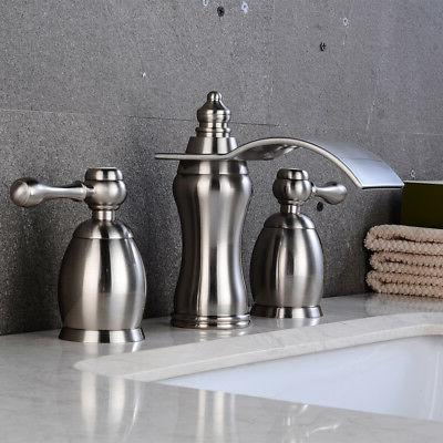 Bathroom Faucet Widespread Handles Tap