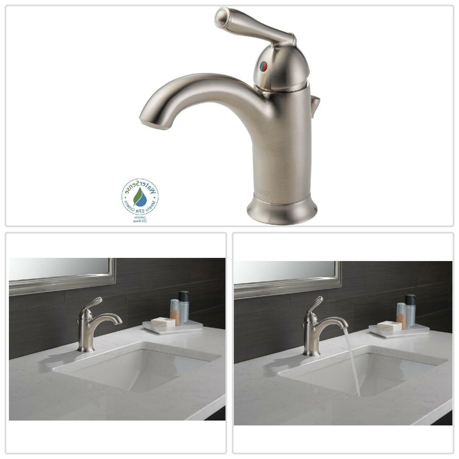 bathroom sink faucet brushed nickel single handle