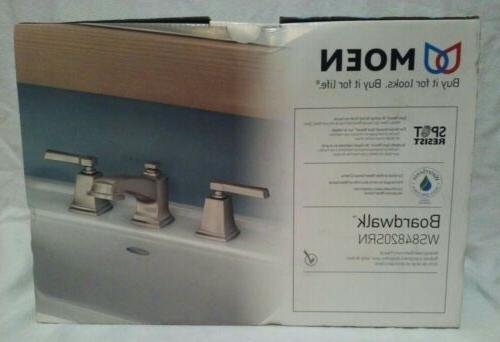 boardwalk brushed nickel widespread bathroom faucet w