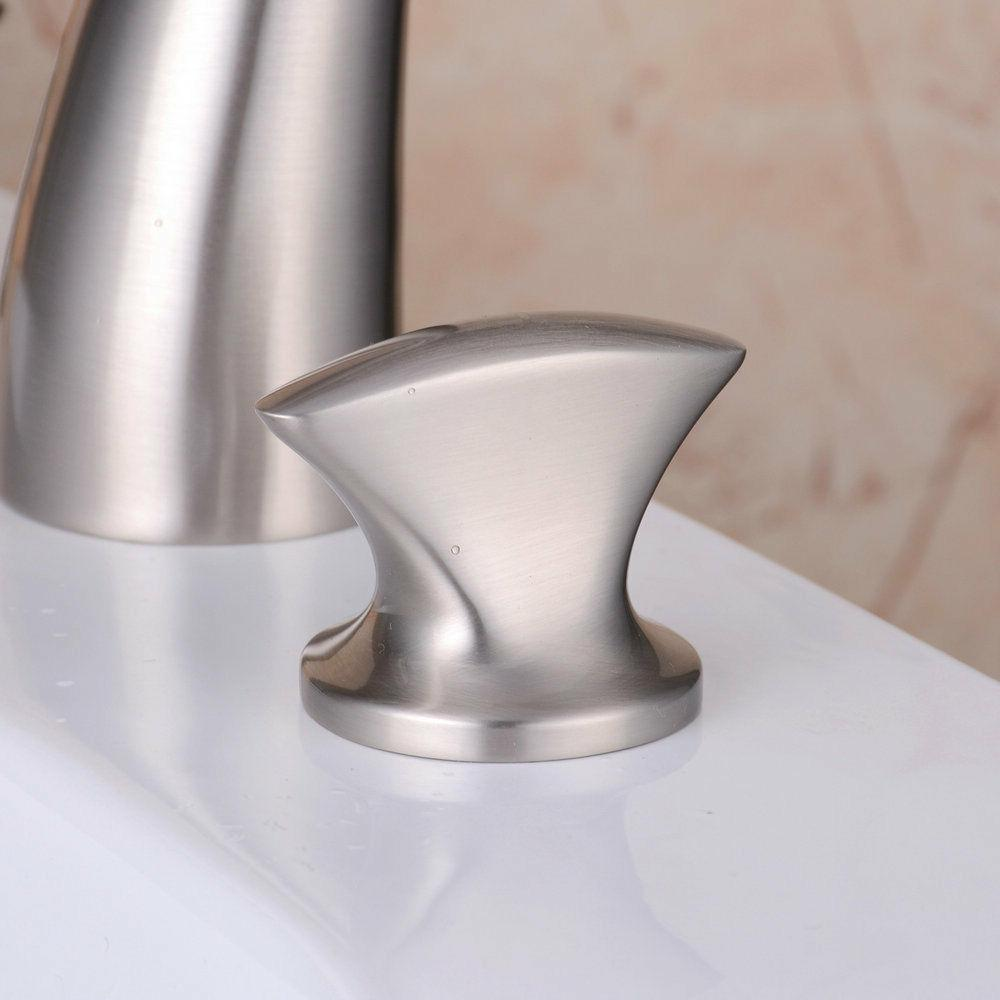 Brass Widespread Bathroom 2 Brushed Lavatory Faucet