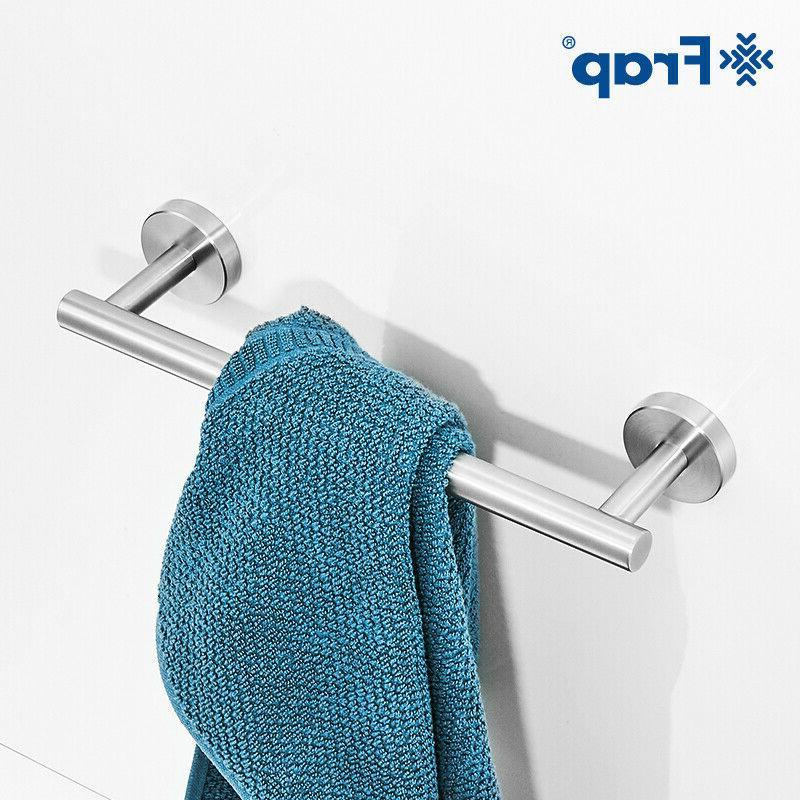 Brushed 3 Bathroom Bath Accessory Set Bar