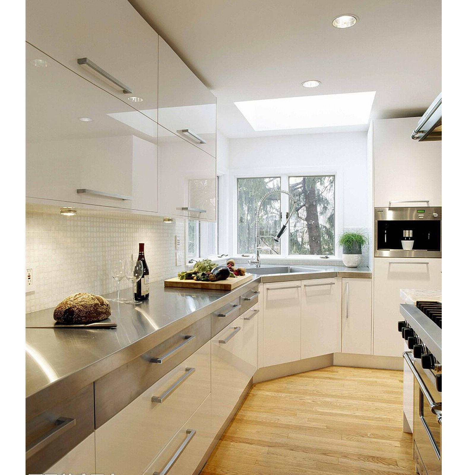 Brushed Nickel Cabinet Pulls Bar Kitchen