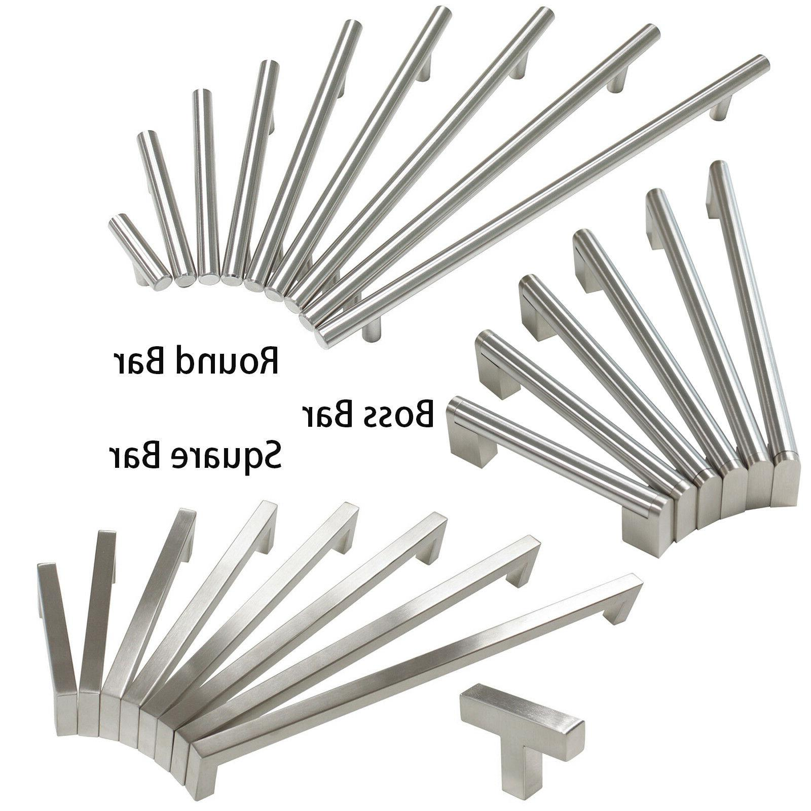 brushed nickel cabinet drawer pulls knobs square