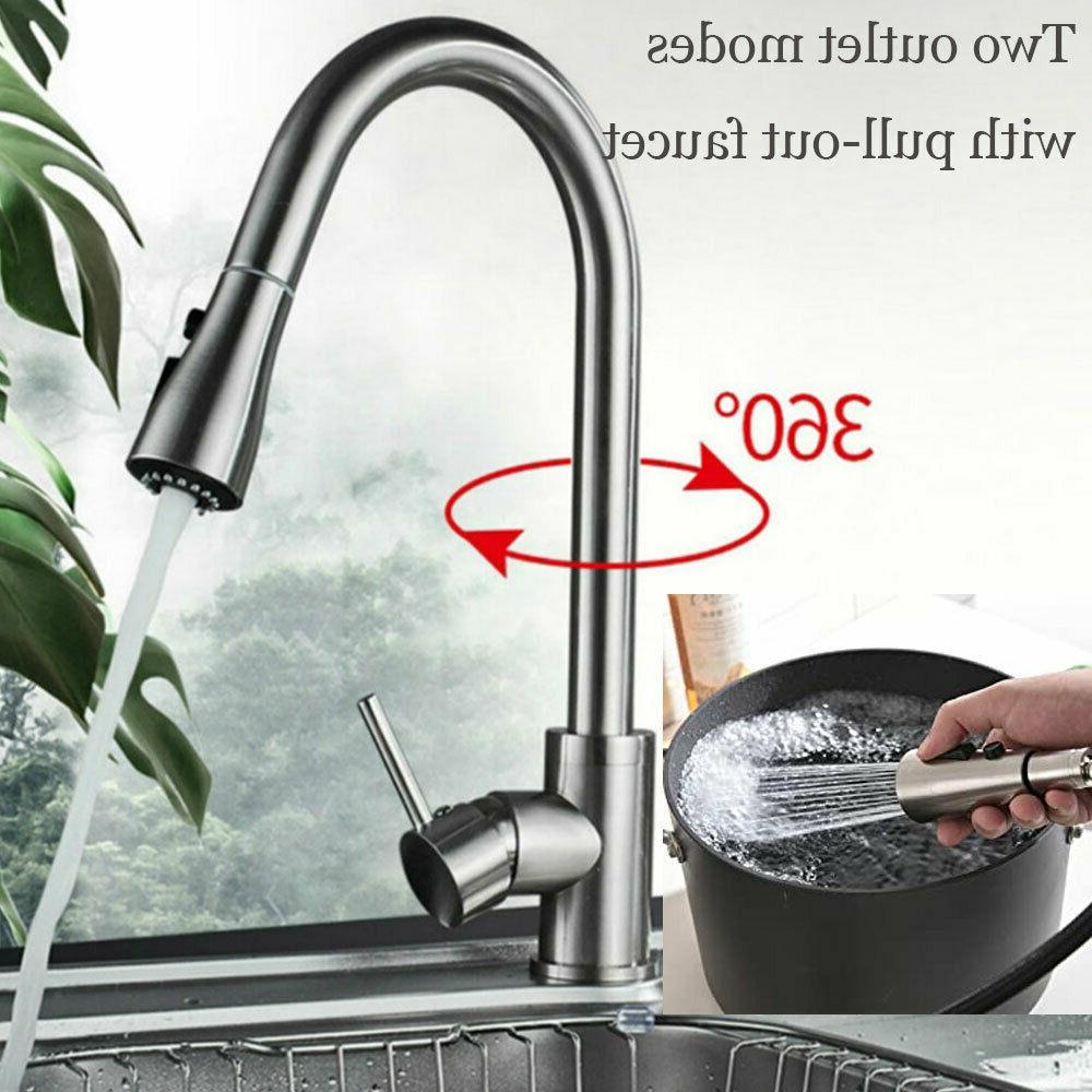 Brushed Nickel Faucet Sink Sprayer Swivel
