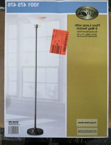 Hampton Bay Brushed Nickel Floor Lamp With 3 Way Switch 1001