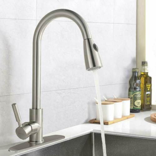Single Handle Brushed Sink Faucet Sprayer