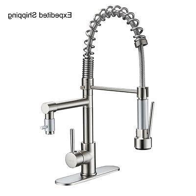 ULGKSD Nickel Kitchen Sink Pull Sprayer Mixer Tap