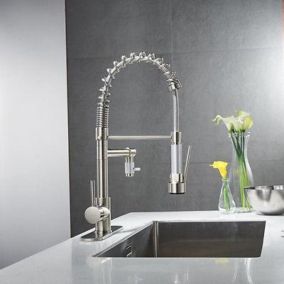 ULGKSD Brushed Kitchen Sink Faucet Sprayer