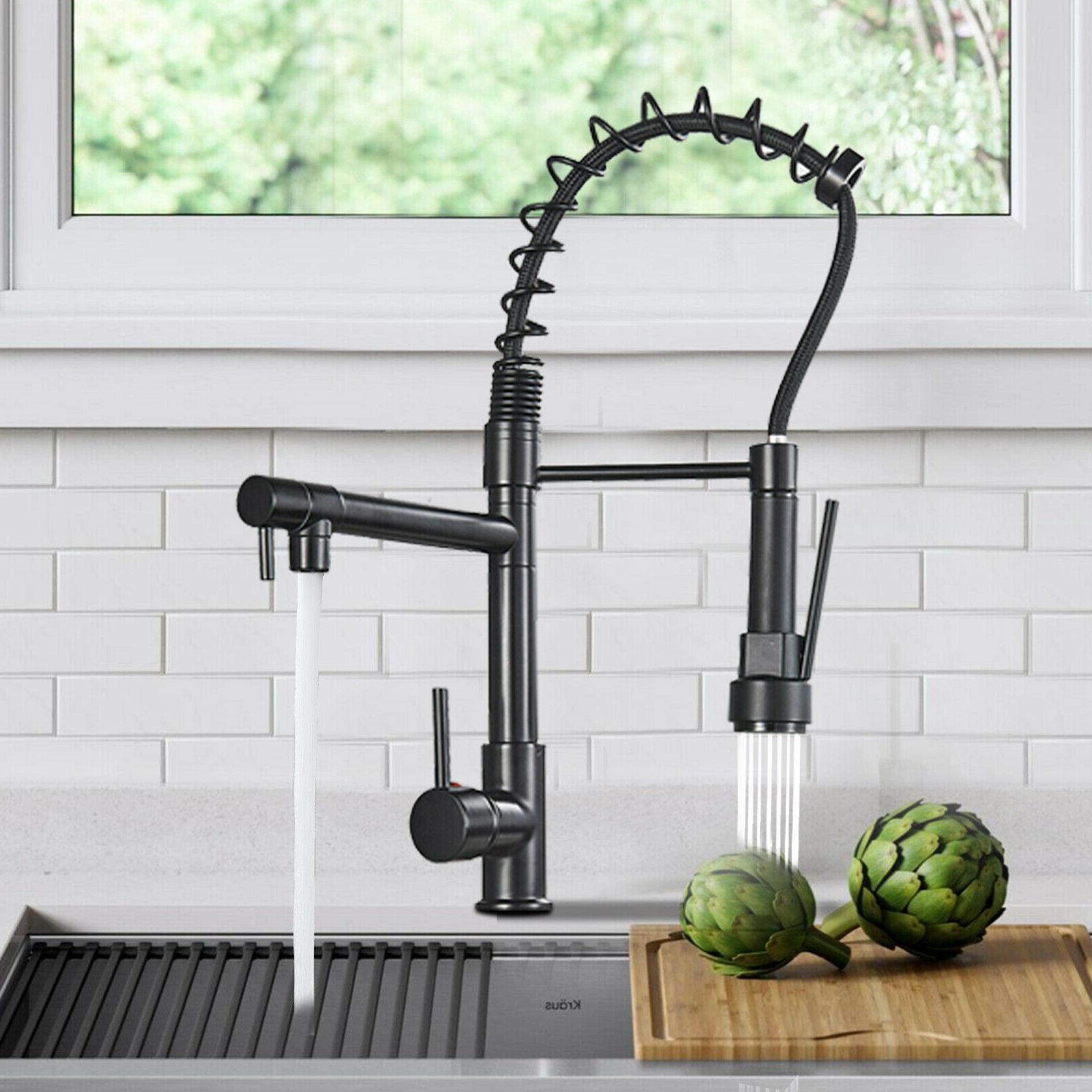 brushed nickel kitchen faucet swivel
