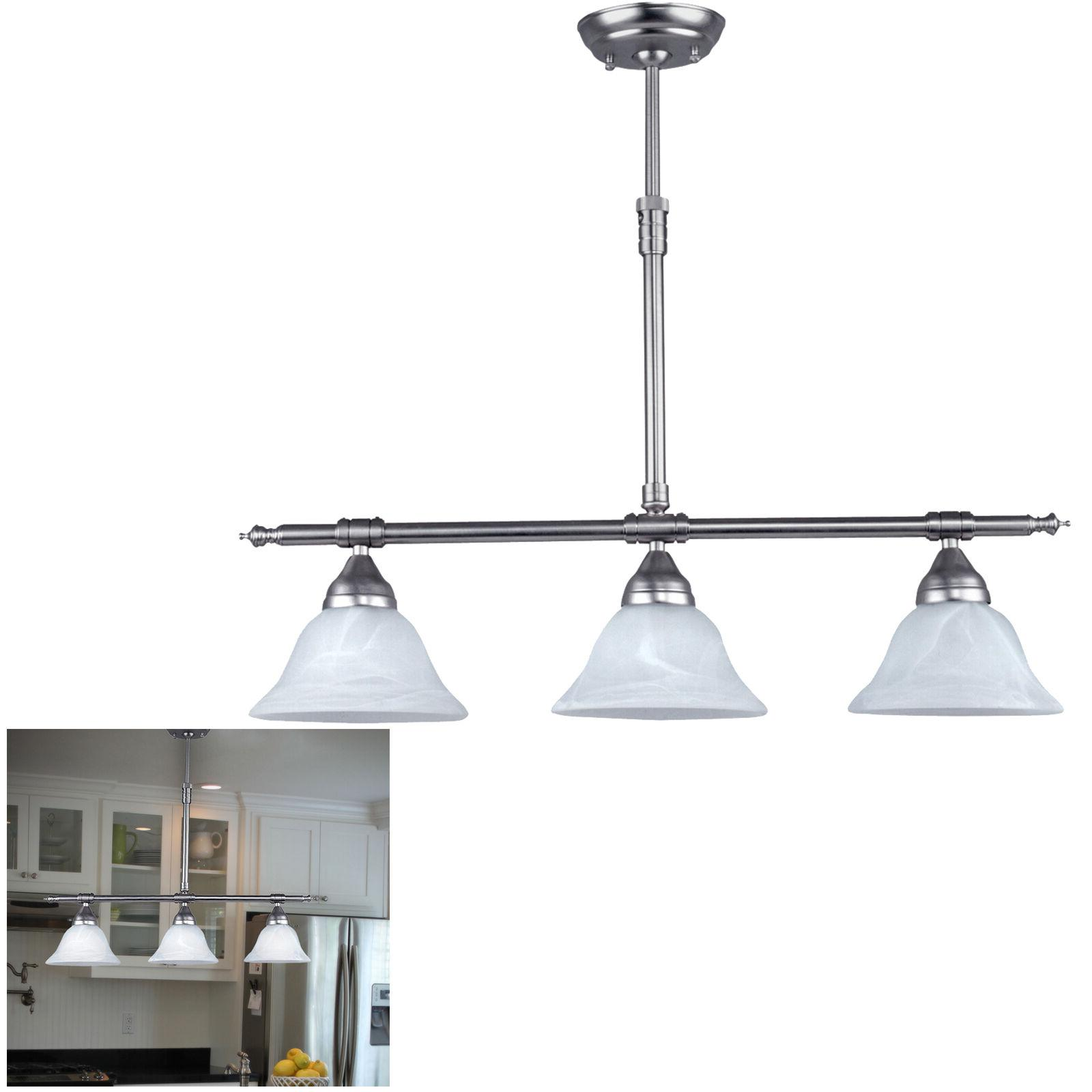 Brushed Nickel Kitchen Island Pendant Light Fixture Dining,