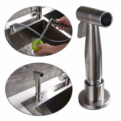 brushed nickel kitchen sink faucet pull out