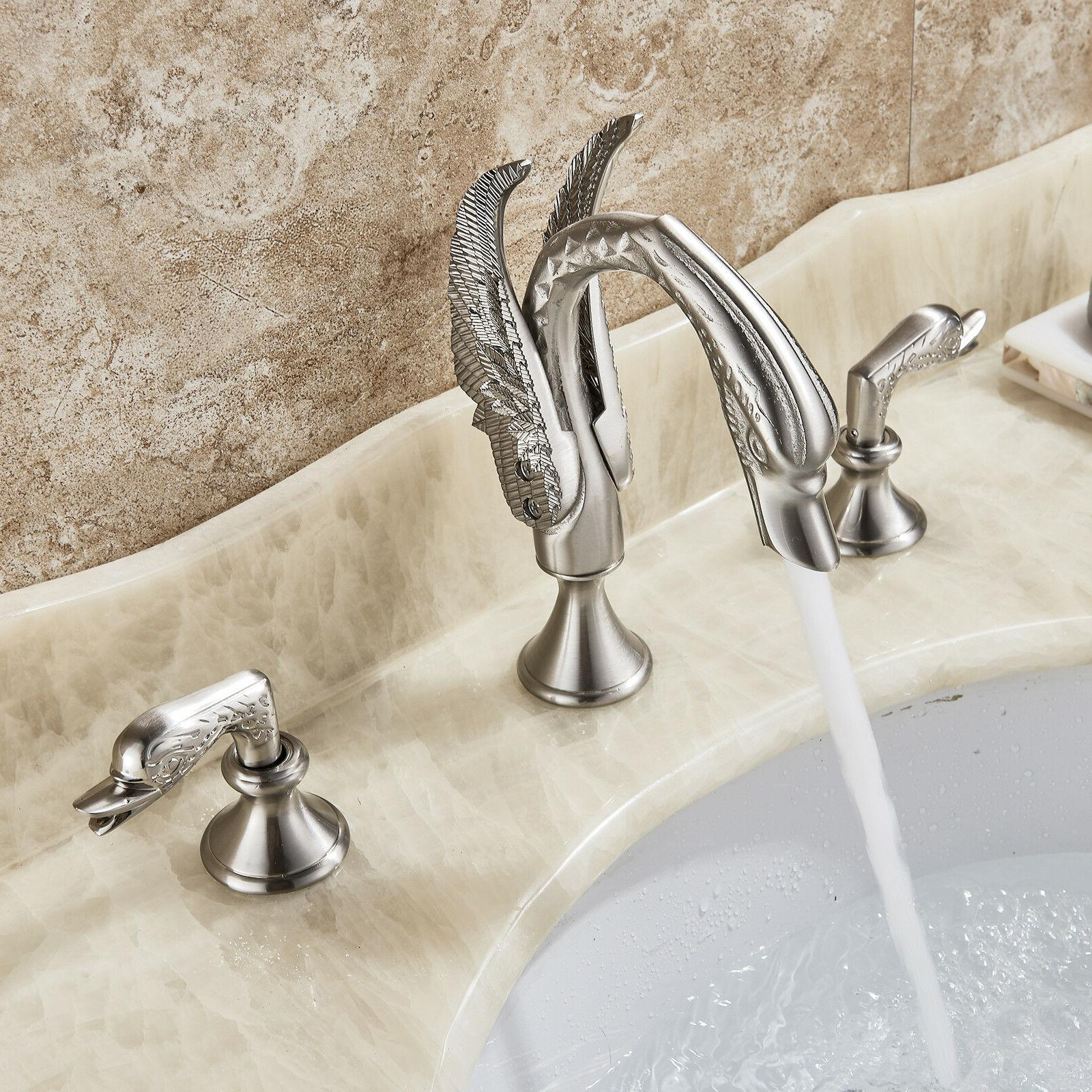 Brushed Nickel Widespread Countertop Tap