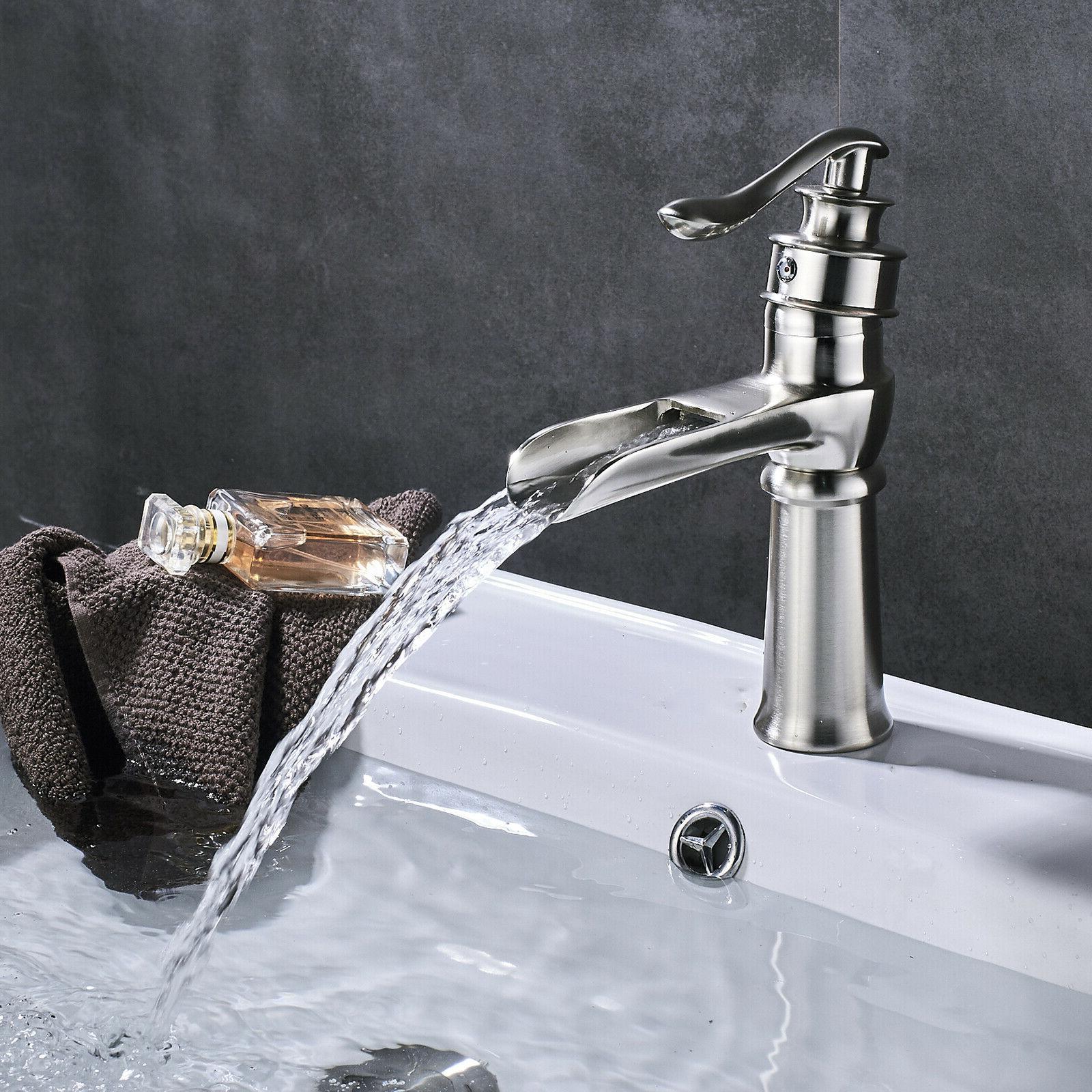 BWE Waterfall Spout Nickel 3 Faucet