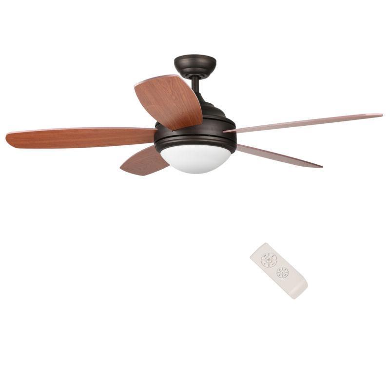 "Ceiling Fan 52"" Brushed / Bronze"