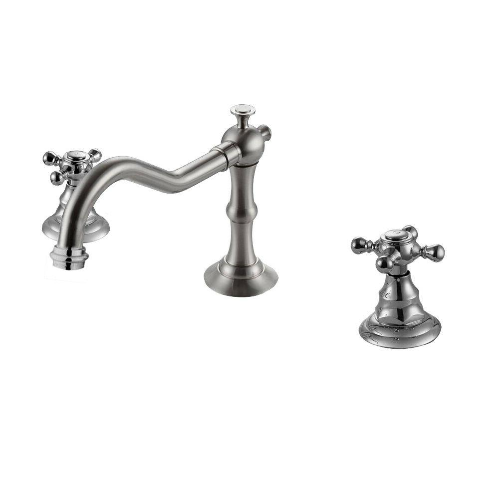 Chrome Finish Waterfall Widespread Bathroom Sink Faucet Vess