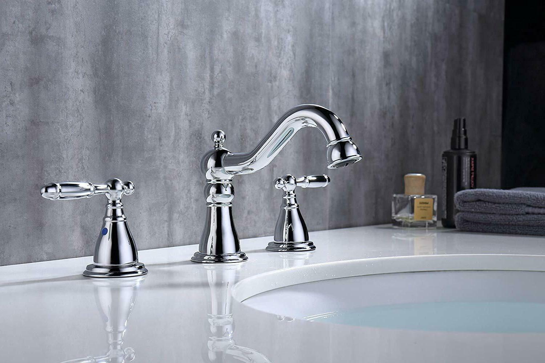Chrome Handle Widespread Bathroom with