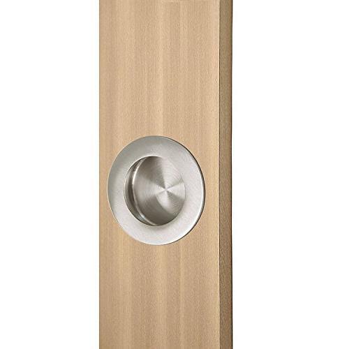 Recessed Drawer Cabinet - HD001 Round Door Handles Outer Diameter 50mm Nickel Desk Drawer 1 Pack