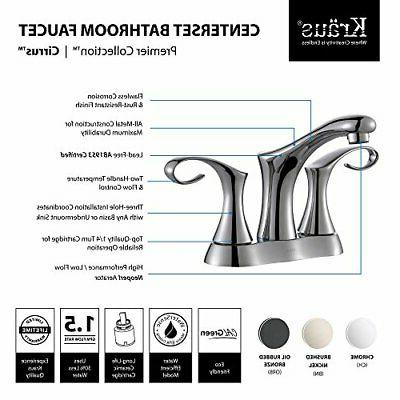 Cirrus 4 2 Handle Bathroom Faucet Set Hot