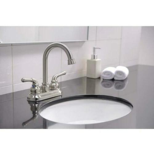 Commercial Contemporary Double Bathroom Faucet