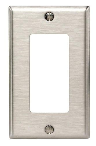 LEVITON 84401-40 DECORA-STYLE STAINLESS STEEL WALL-PLATE, FA