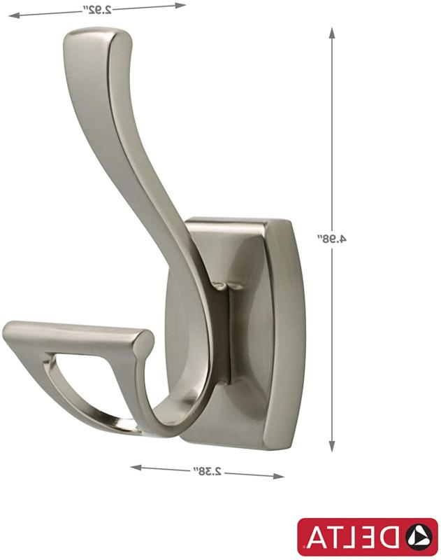 Delta Faucet 135241 Double Robe Brushed Nickel