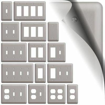 devon switch plate brushed nickel wallplate outlet