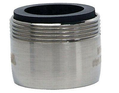 faucet aerator dual thread low flow brushed