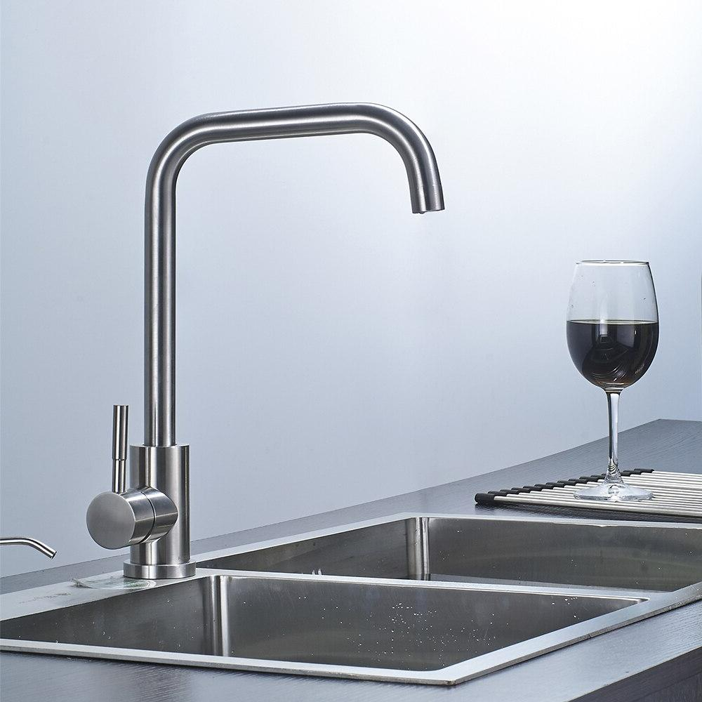<font><b>Brushed</b></font> <font><b>nickel</b></font> modern mixer stainless 360 Degree Cold and