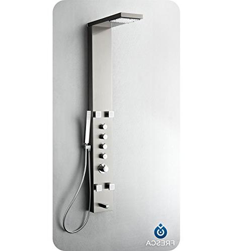 Stainless Thermostatic Massage Panel, Silver
