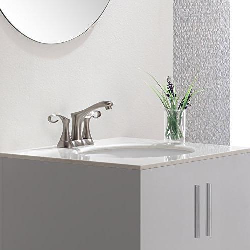 Kraus 2-Handle Bathroom Brushed Nickel