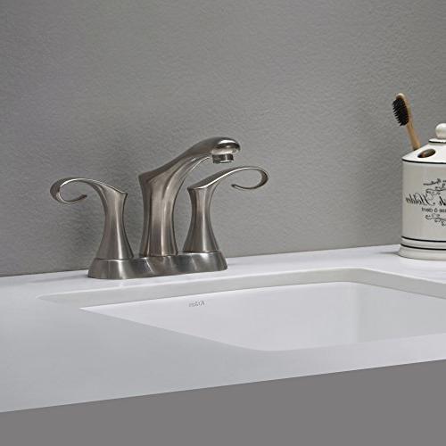 Kraus FUS-13102BN 2-Handle Bathroom Faucet, Brushed