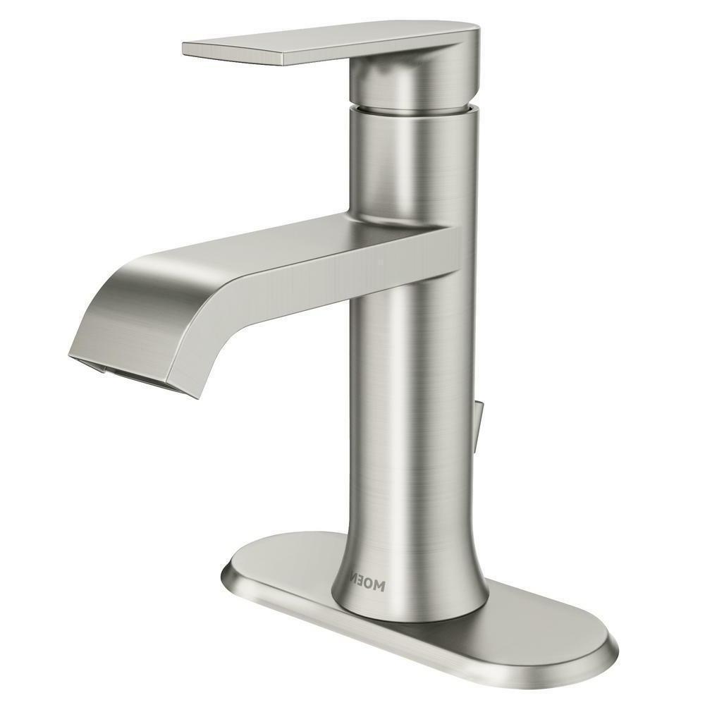 MOEN Genta Single-Handle Bathroom Faucet, Spot Resist Brushe