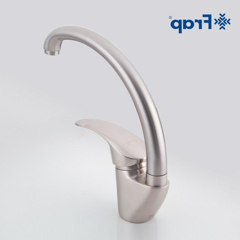 Frap And <font><b>Nickel</b></font> Faucet Sink Mixer Tap Spout Two