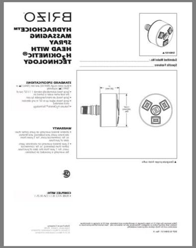 BRIZO HYDRACHOICE SPRAY SH84101-BN NICKEL