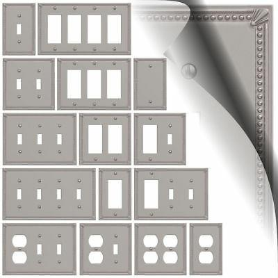 imperial bead brushed nickel switch plate toggle
