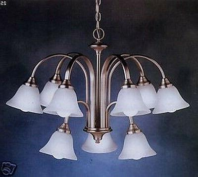 Kichler 9 Light 2 Tier Brushed Nickel Chandelier With Etched