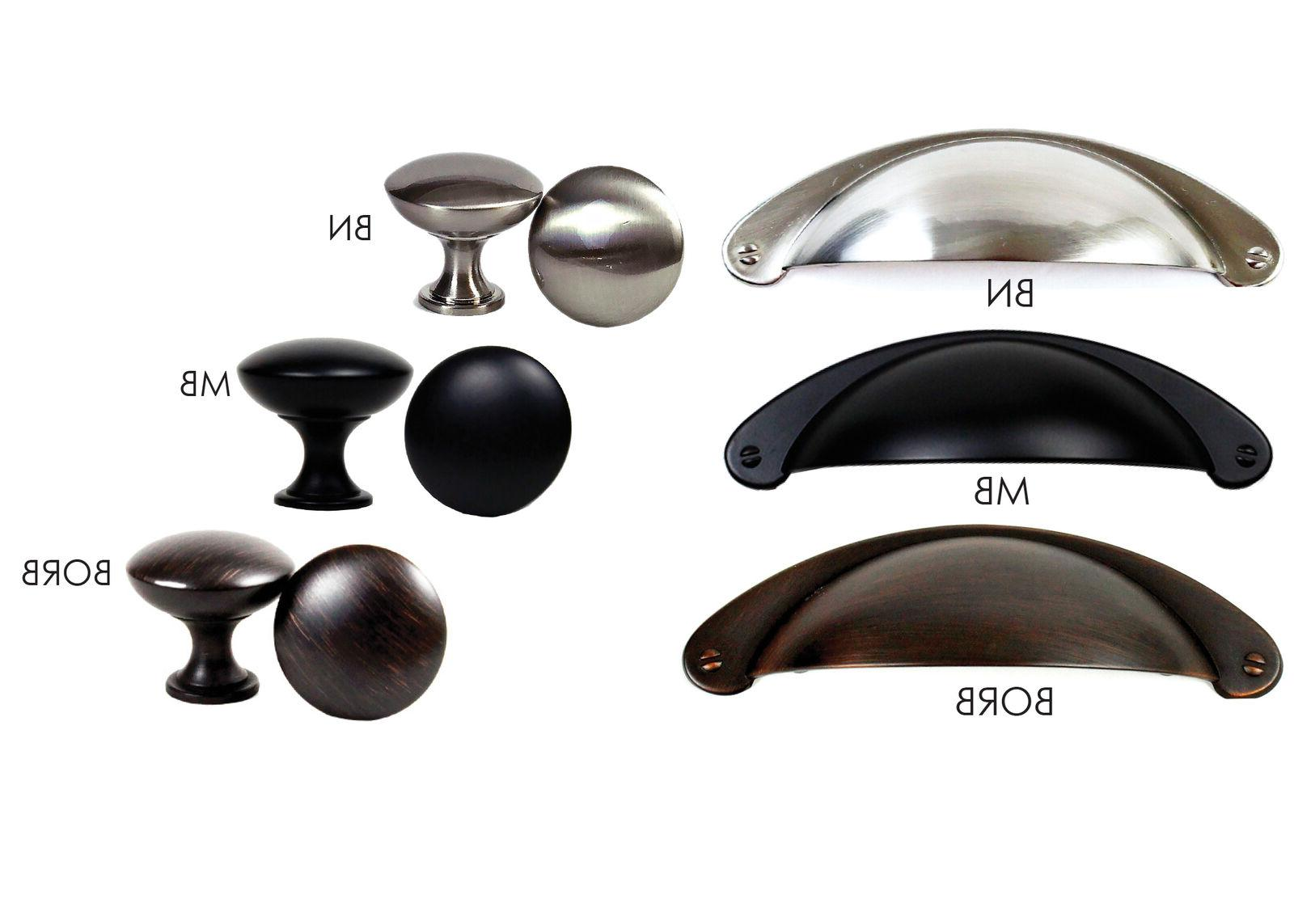 Kitchen Cabinet Hardware Cup Pulls Handles and Round Mushroo