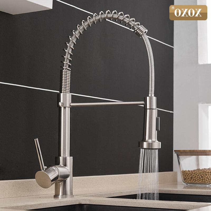 XOXO Kitchen Out Cold and Hot <font><b>Brushed</b></font> Swivel 2-Function Outlet Mixer