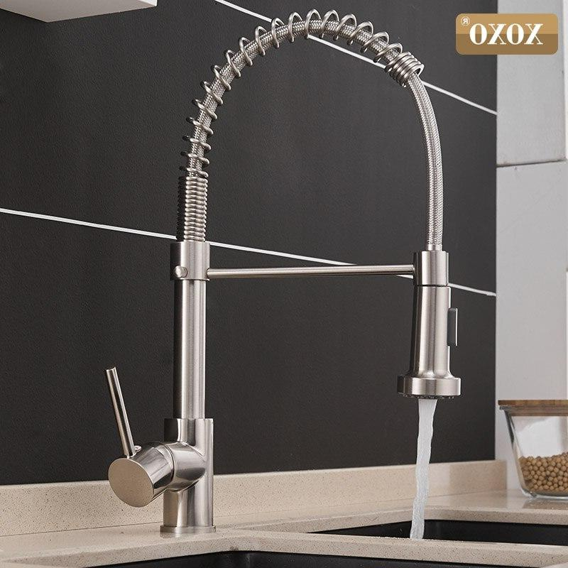 XOXO Out Cold and Hot <font><b>Brushed</b></font> Swivel Water Mixer