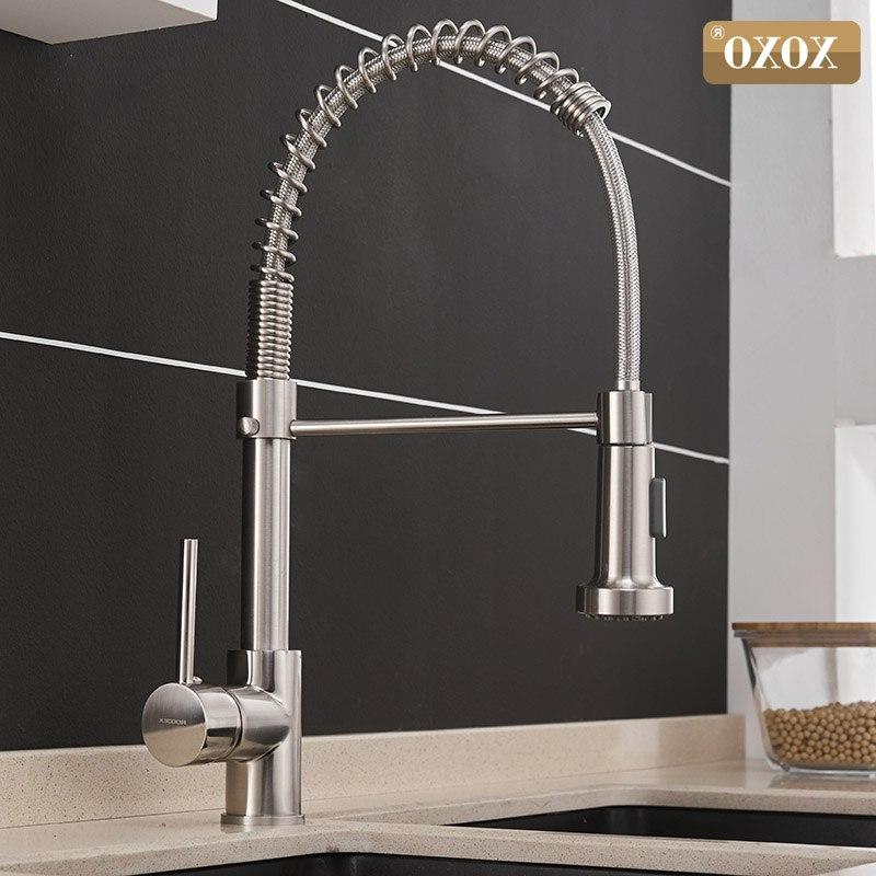 kitchen faucet pull out cold and hot